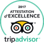 Attestation d'excellence 2017 Tripadvisor
